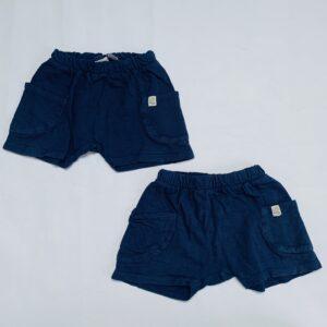 2x shorts donkerblauw Zara 9-12m / 80
