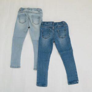 2x aanpasbare jeansbroek Zara 3-4jr / 104