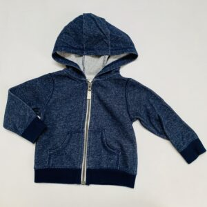 Hoodie speckled donkerblauw Carter's 12m