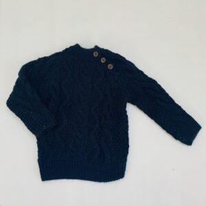 Grof gebreide trui donkerblauw Zara 18-24m / 92