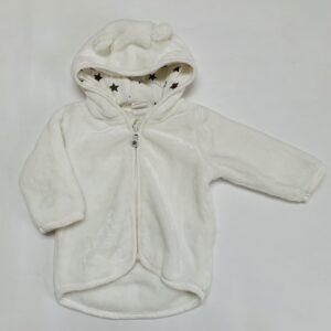 Jasje teddy met kap berenoortjes H&M 4-6m / 68