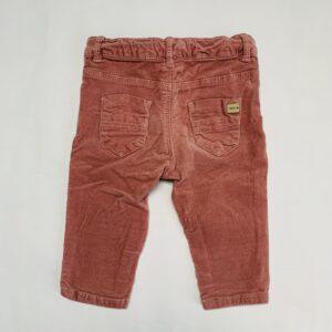 Broekje ribfluweel pink Zara 3-6m / 68