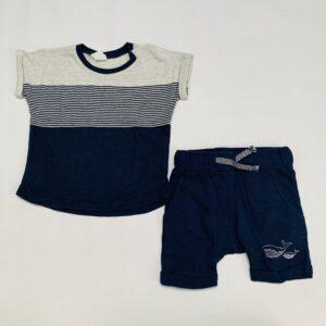 Pyjama kort whales H&M 6-9m / 74