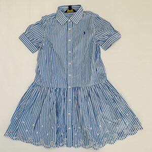 Kleedje shortsleeve blue stripes Ralph Lauren 7jr / 122