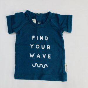 T-shirt blue find your wave Little Indians 0-3m