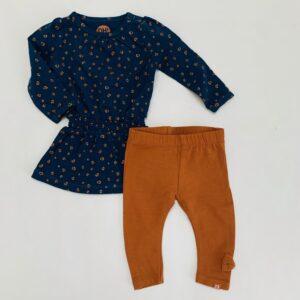 Setje kleedje + legging leopard/bruin Z8 50