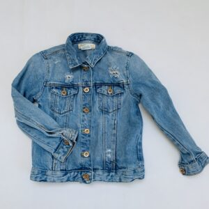 Jeansjas Sesamstraat ripped Zara 7jr / 122