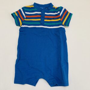 Onesie blue stripes Little Marcel 3m