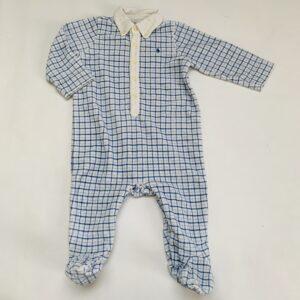 Pyjama met voetjes ruit Ralph Lauren 9m / 74