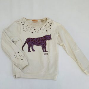 Sweater luipaard beige Scotch R'Belle 8jr / 128