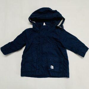 Jasje donkerblauw met kap H&M  4-6m / 68