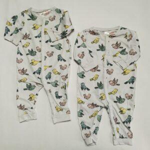 2x pyjama birds H&M 6-9m / 74