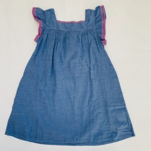 Kleedje blue pink embroidery H&M 7-8jr / 128