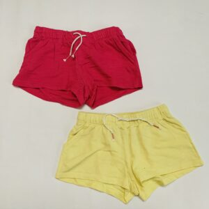 2x short yellow/pink H&M 3-4jr / 104