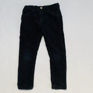 Broek ribfluweel zwart Zara 4-5jr / 110