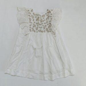 Kleedje kanten mouwtjes flowers embroidery Zara 3-4jr / 104