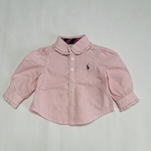 Blouse pink stripes Ralph Lauren 3m