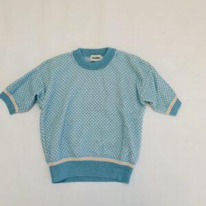 Kort tricot truitje blauw met glitterdetail Filou & Friends 5jr