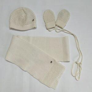 Set muts, handschoenen en sjaal ecru River Woods T2 / 6-12m
