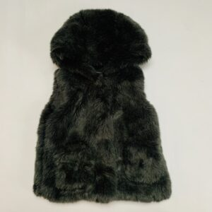 Bodywarmer met kap teddy donkergroen Zara 4jr / 104