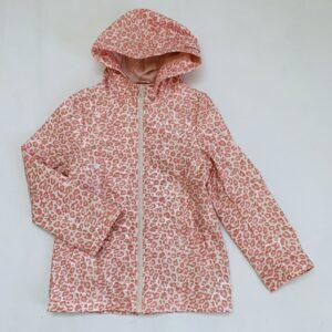 Regenjas / waxed raincoat pink leopard Veritas 122/128