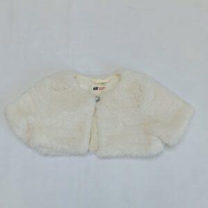 Bolero faux fur ecru H&M 2-3jr / 98