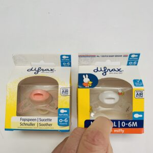 2 x tuutje Difrax 0-6m
