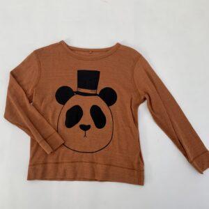 Longsleeve panda 100% wol Mini Rodini 92/98