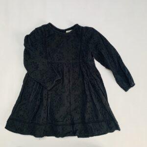Kleedje kanten look zwart Zara 3-4jr / 104