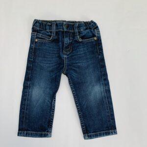 Jeansbroek met knoop en rekker P'tit Filou 12m