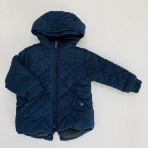 Gevoerde jas met kap stitch donkerblauw Zara 12-18m / 86