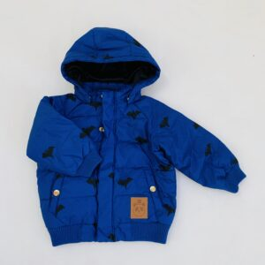 Puffy jacket met kap vleermuis Mini Rodini 80/86