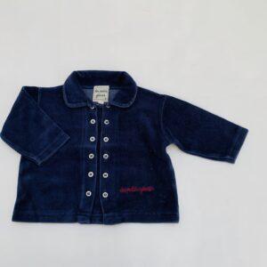 Sweaterjasje fluweel donkerblauw Les beau géants 3m