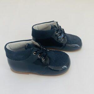Veterschoenen met daim afwerking donkerblauw Eli maat 23