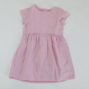 Kleedje shortsleeve pink stripes Next 5-6jr