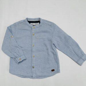 Hemdje blauwe ruitjes Zara 9-12m / 80