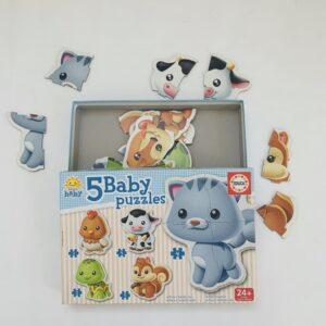 5 baby puzzles Educa