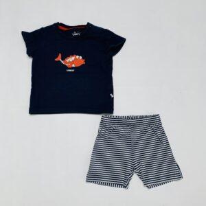 Korte tweedelige pyjama fish Woody 9m