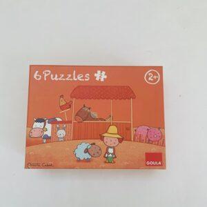 6 puzzels van 2st Goula