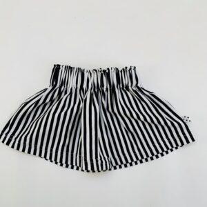Rokje met rekkers stripes monochrome No Colours 50/56