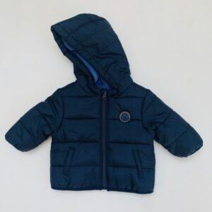 Gevoerde regenjas met kap stitch donkerblauw Kiabi 3m