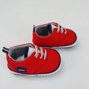 Sneakers rood Mayoral maat 18