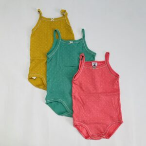 3x rompers sleeveless colours Petit Bateau 12m / 74