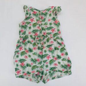 Jumpsuit kort flowers Zara 2-3jr / 98