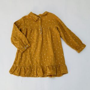 Kleedje dots mustard Zara 2-3jr / 98
