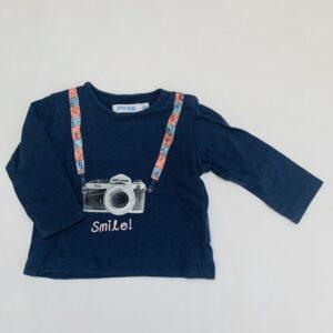 Longsleeve baby camera P'tit Filou 6m