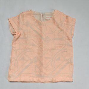 Shirtje embroidery zalmroze Simple Kids 6jr (tailleert als 5jr)