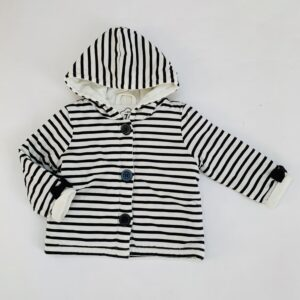 Sweaterjasje met kap stripes JBC 9m