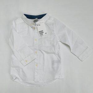 Wit hemdje H&M 6-9m / 74