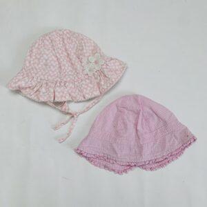 2 x zonnehoedje pink H&M / Baby Club 6-9m